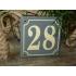 Huisnummer bord 'extra 1' 13x13 cm