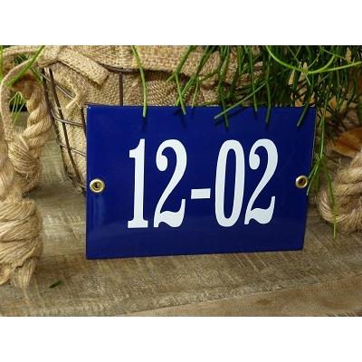 Huisnummer bord 'extra 6' 15x10 cm
