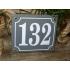 Huisnummer bord 'extra 2' 15x13 cm