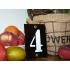 Huisnummer industrieel zwart 8x12