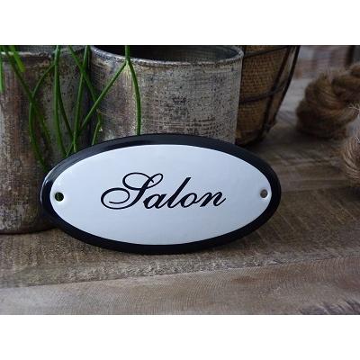 Emaille deurbordje ovaal 'Salon'