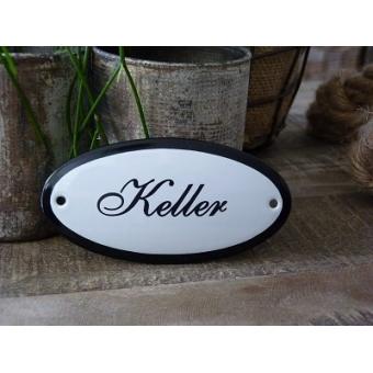Emaille deurbordje ovaal 'Keller'