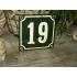Huisnummer groen 10x10