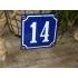 Huisnummer blauw 10x10