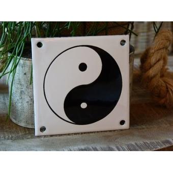 Emaille bordje  Yin Yang