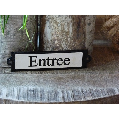 Emaille deurbordje recht 'Entree'
