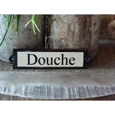 Emaille deurbordje recht 'Douche'