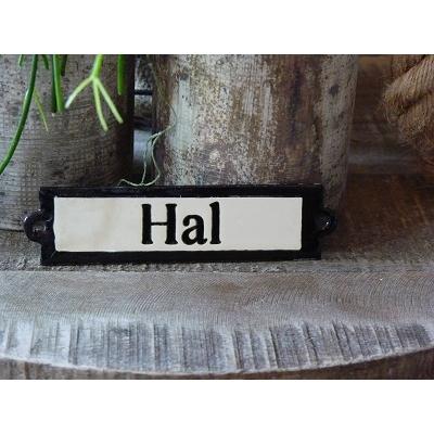 Emaille deurbordje recht 'Hal'