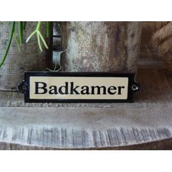 Emaille deurbordje recht 'Badkamer'