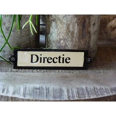 Emaille deurbordje recht 'Directie'