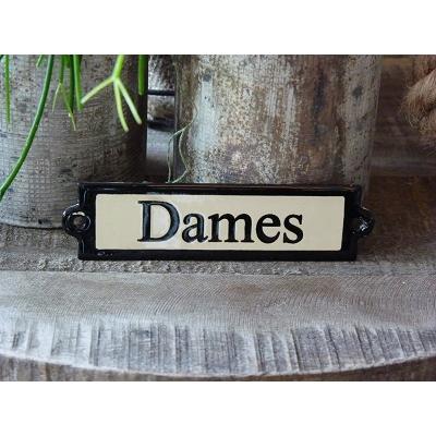 Emaille deurbordje recht 'Dames'